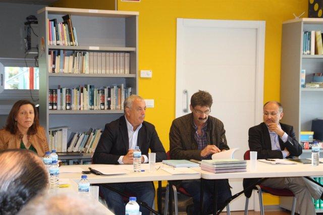 Reunión del PSdeG en A Costa da Morte (A Coruña)