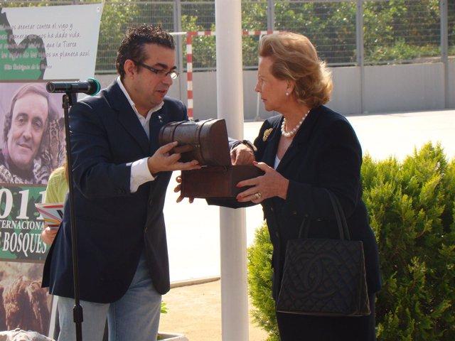 Homenaje en el colegio de Hurchillo a Félix Rodríguez de la Fuente