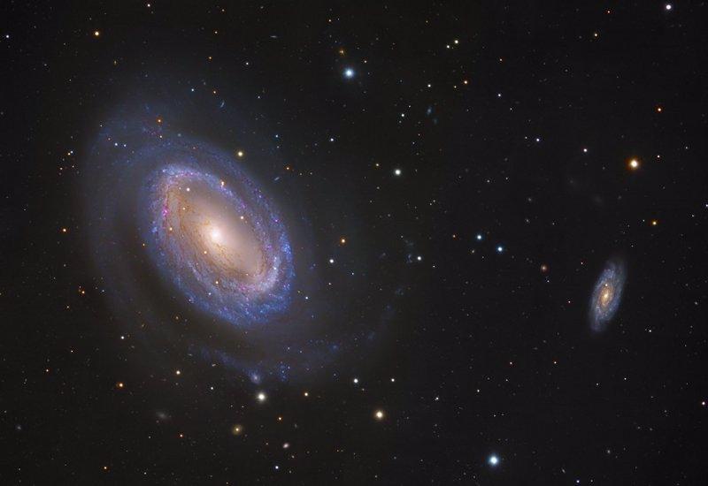 Una rara galaxia espiral con un solo brazo