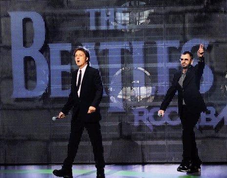 Paul McCartney  y Ringo Starr The Beatles
