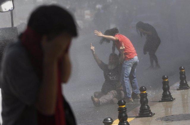 Heridos manifestación Turquía, Estambul