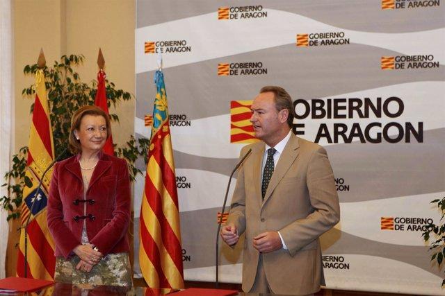 Los presidentes de Aragón y Comunidad Valenciana apuestan por la colaboración