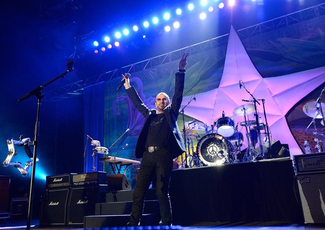 Ringo Starr performs live on stage at the Brisbane Convention & Exhibition Centr
