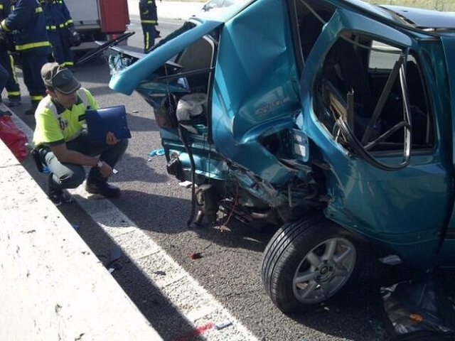 Accidente de tráfico en la A-3