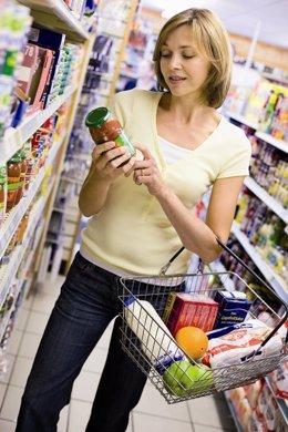 Compra, comprando, supermercado, comida