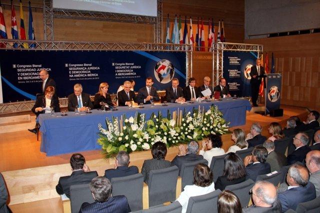 Inauguración del  Congreso de Seguridad Jurídica y Democracia en Iberoamérica
