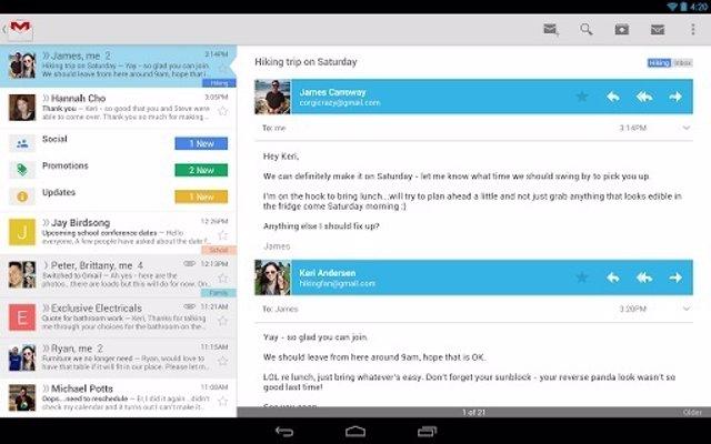 Gmail para iOS y Android recibe la nueva bandeja de entrada