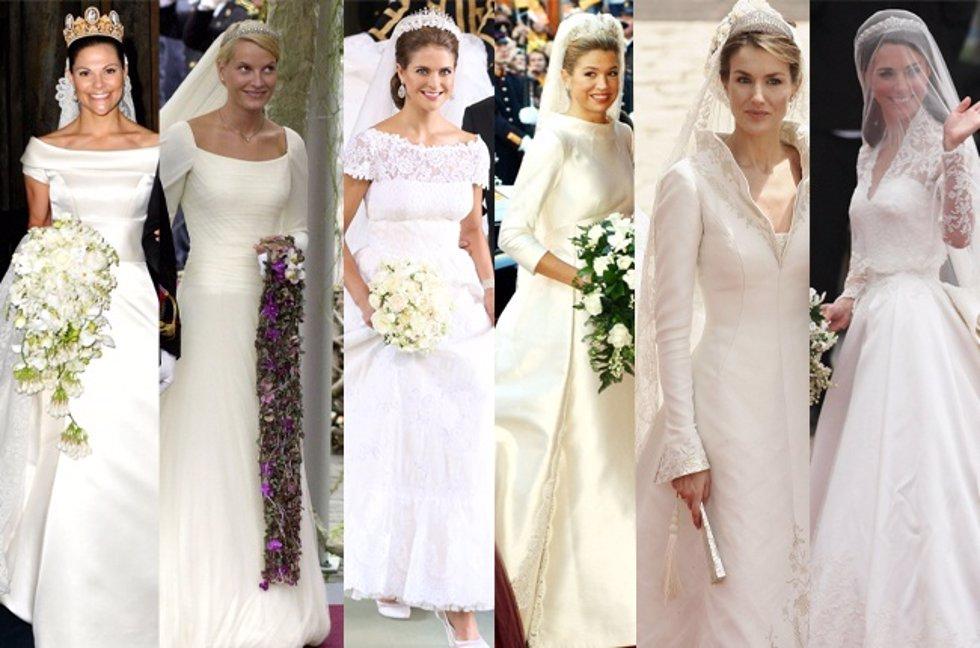 Las Princesas Europeas y sus vestidos de ensueño para una boda de cuento