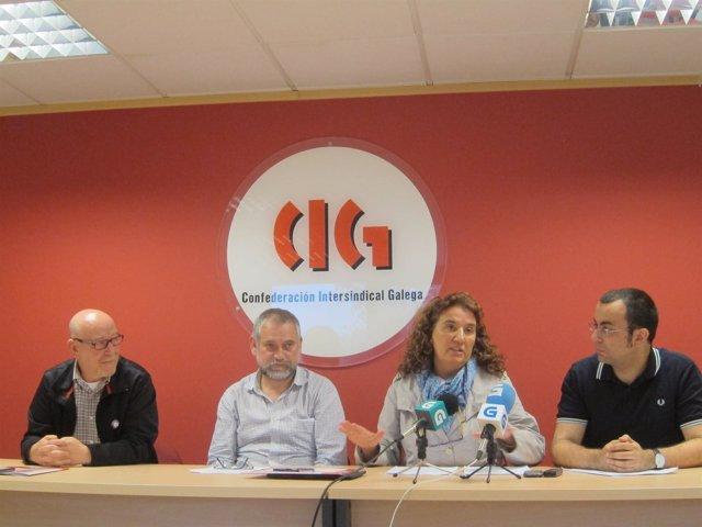 Representantes de la CIG presentan dos sentencias sobre el INSS