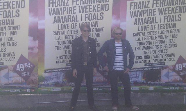 Dos miembros de Franz Ferdinand