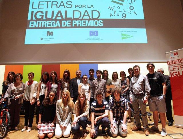 Ganadores del concurso 'Letras por la Igualdad'