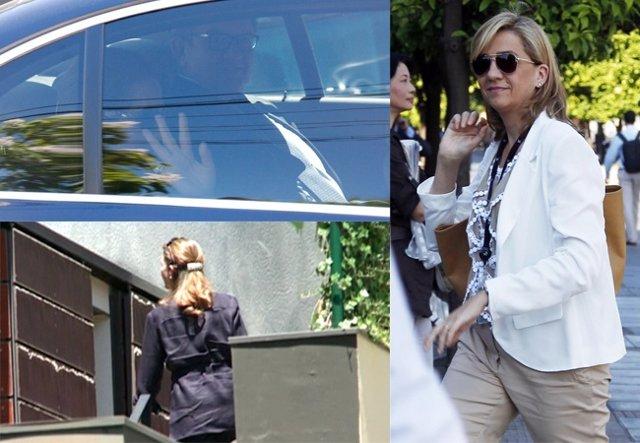 La Infanta Elena visita a la Infanta Cristina