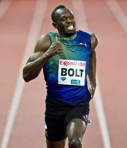 Usain Bolt en la Diamond League de Noruega