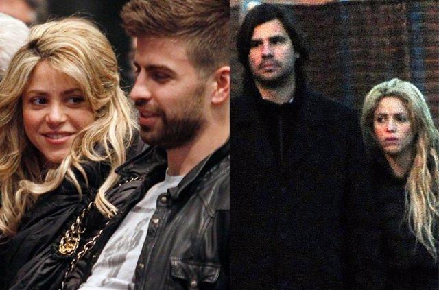 Shakira con Piqué y Antonio