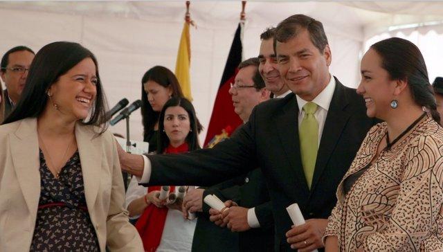 Correa con nuevas juezas de violencia contra mujer