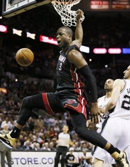 Dwayne Wade en el Miami Heat - San Antonio Spurs
