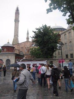 Turistas en Estambul