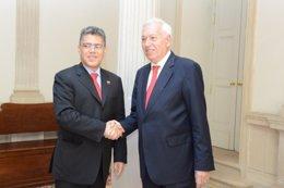 José Manuel García-Margallo y Elías Jaua