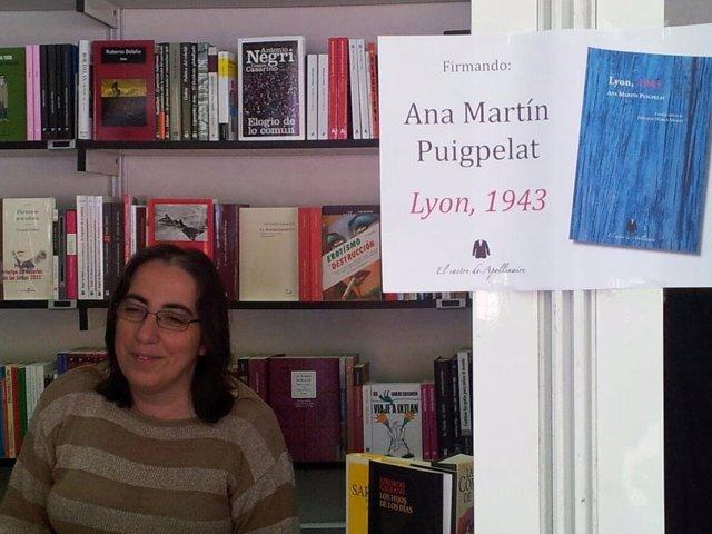 La poeta Ana Martín Puigpelat