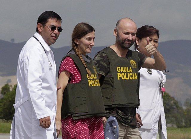 Españoles secuestrados en Colombia