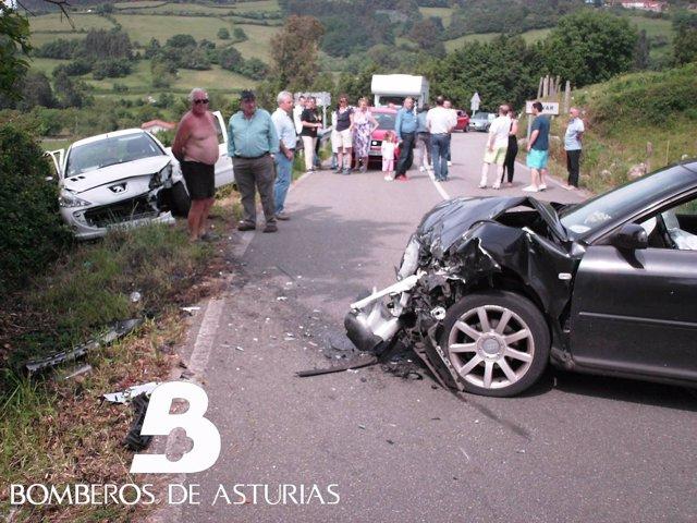 Accidente en Villaviciosa.