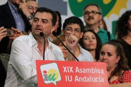Antonio Maíllo interviene en la Asamblea tras ser elegido coordinador de IULV-CA