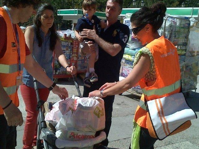 Los madrileños han batido el récord Guinnes de recogida de alimentos