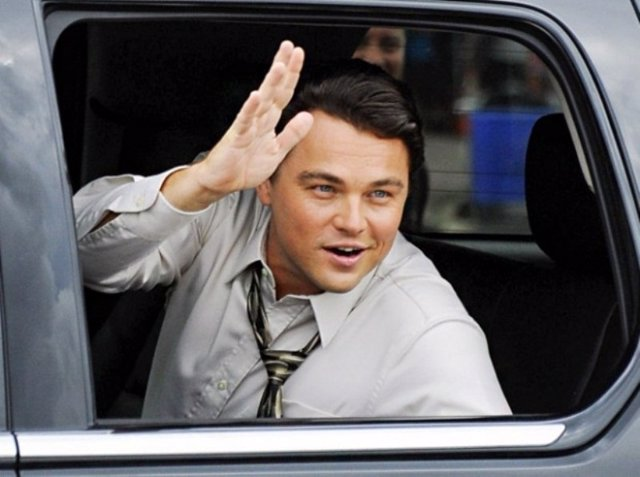Leonardo DiCaprio en The Wolf of Wall Street