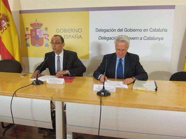 Subdelegado del Gobierno en Barcelona, Emilio Ablanedo, y Luis Terradas