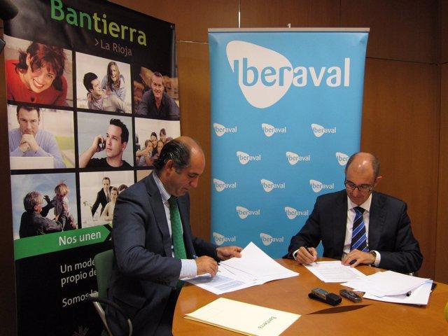 Firma convenio Iberaval y Bantierra en Logroño