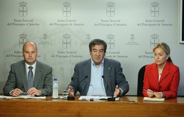 Juan ramón Campo, Francisco Álvarez-cascos y Cristina Coto.