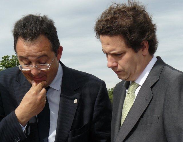 El alcalde, este lunes, junto al consejero Sarasola