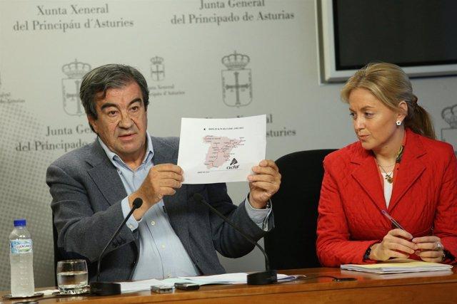 Francisco Álvarez-Cascos y Cristina Coto.