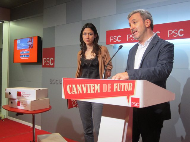 Núria Parlón y Jaume Collboni, PSC
