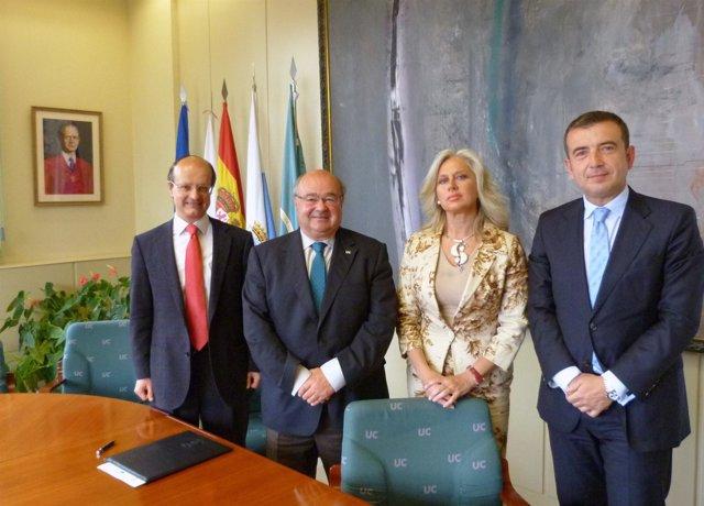Firma del acuerdo de adhesión de ACEFAM a Cantabria Campus Internacional