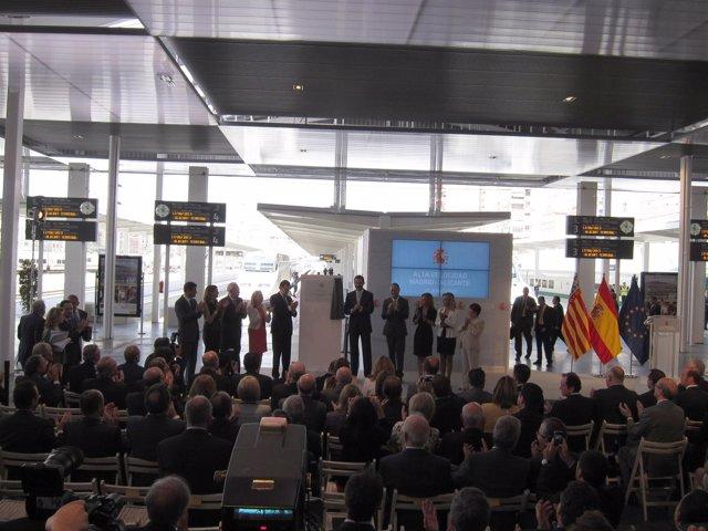 Inauguración del AVE Madrid a Alicante