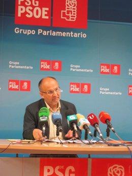El portavoz parlamentario del PSdeG, Abel Losada