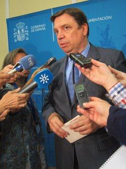 El consejero andaluz Luis Planas, hoy tras el Consejo Consultivo Agrícola