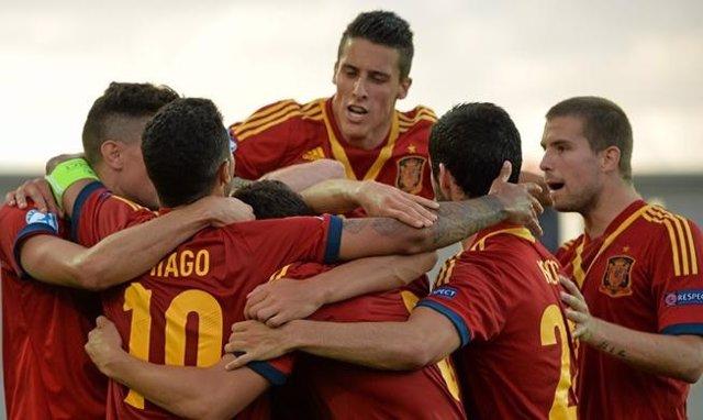 España Sub-21 celebra el pase a la final