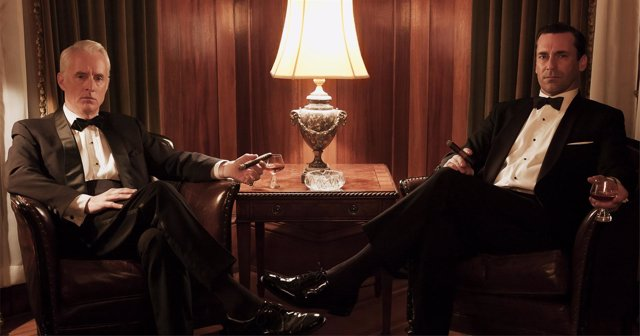 Roger Sterling (John Slattery) and Don Draper (Jon Hamm) - Mad Men - Season 6 -