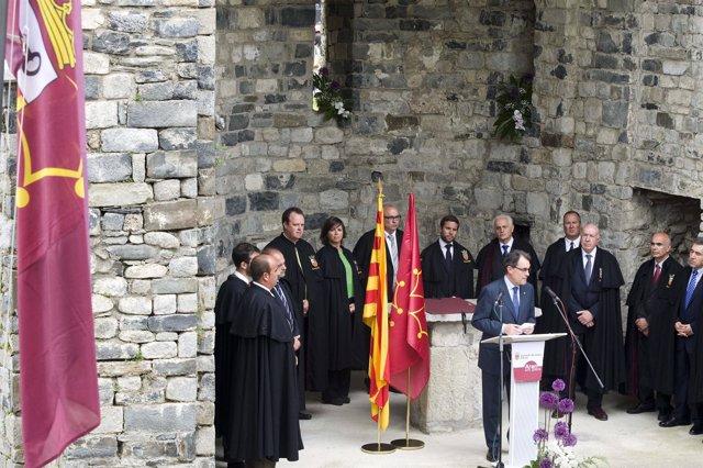 Artur Mas, en la conmemoración de los 700 años de la 'Querimònia'