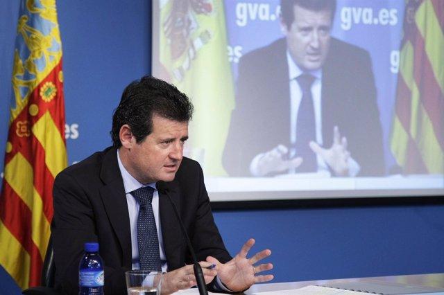 José Císcar en rueda de prensa, en imagen de archivo.