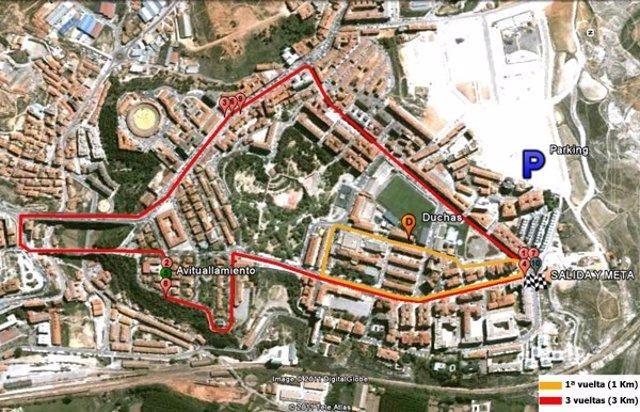 Plano del circuito de la Carrera 10K.