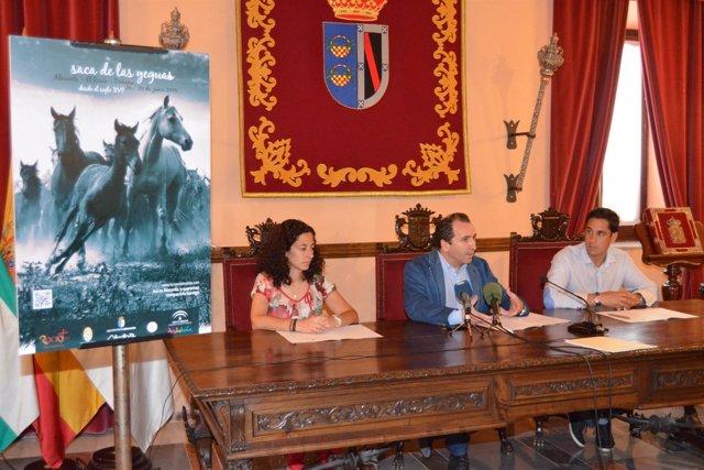 Presentación de la campaña publicitaria por la 'Saca de Yeguas'.