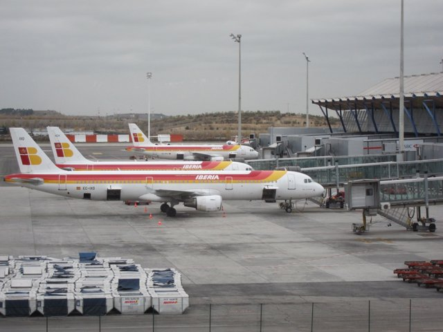 Aviones de Iberia en Barajas