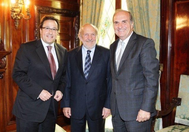 R.Adell (SEE), R.Rodrigo (RBA) y J.Gay de Montellà (Fomento del Trabajo)
