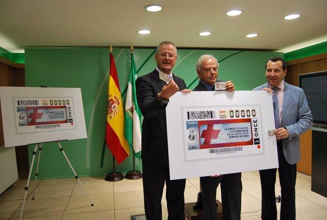Cupón de la ONCE presentado en Málaga