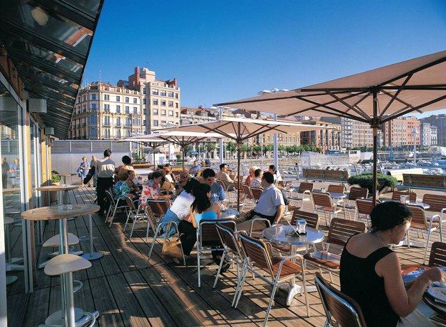 Terrazas veraniegas en Gijón.