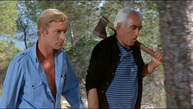 Michael Caine y Anthony Quinn en 'El Mago'