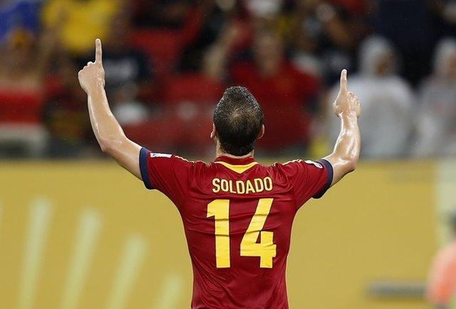 Roberto Soldado con la selección española